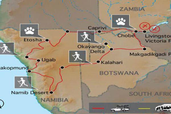 Southern Circle Erlebnisreise Namibia & Botswana
