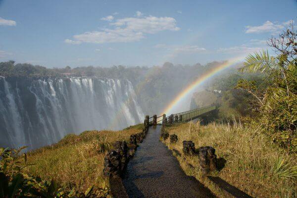 Regenbogen Im Wasserfall