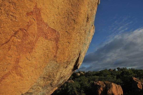 Matobos Felsenmalerei In Zimbabwe