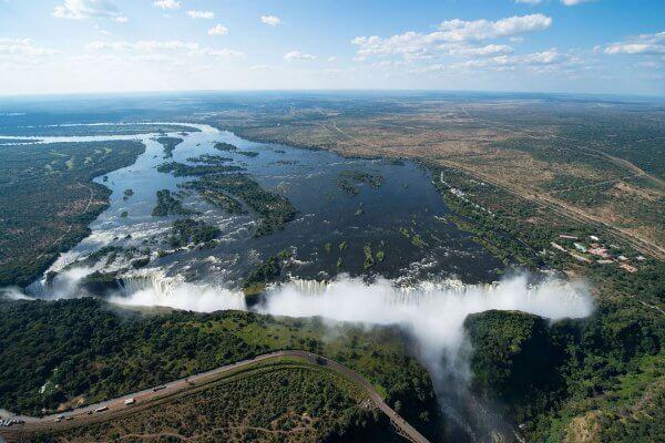 Victoria Falls Von Oben
