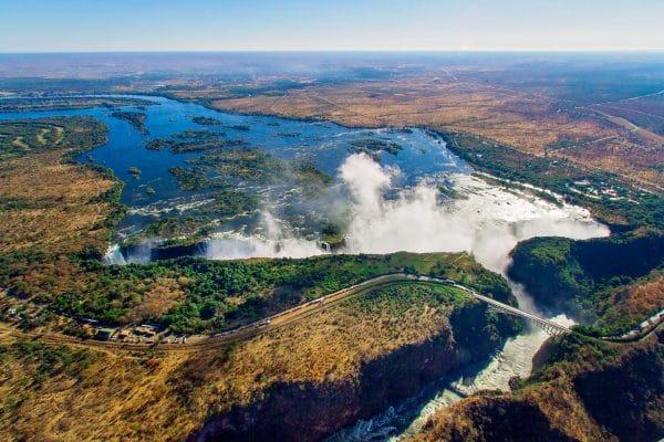 Wasserstand Der Viktoriafälle Im Mai