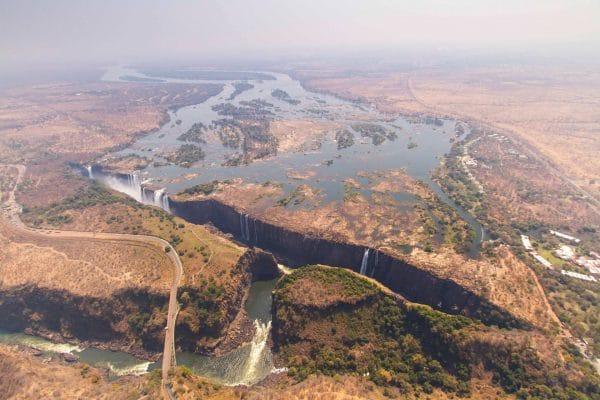 Wasserstand Der Viktoriafälle Im September